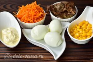 Салат с печенью и морковью по-корейски: Ингредиенты