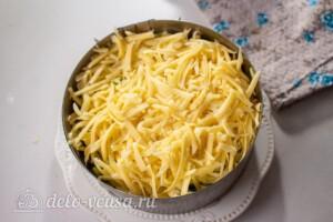 Слоеный салат с рисом и черносливом: фото к шагу 9.