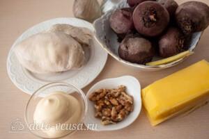Свекольный салат с курицей и сыром: Ингредиенты