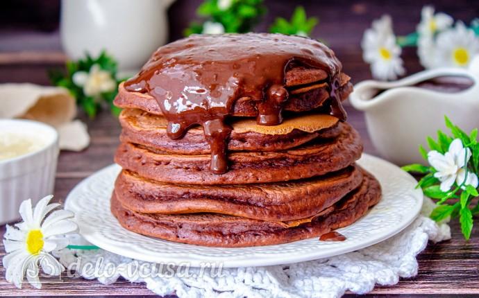 Шоколадные панкейки на молоке