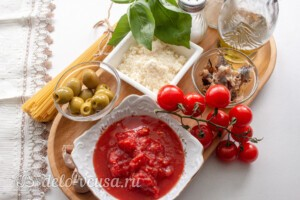 Спагетти Путанеска: Ингредиенты