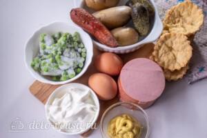 Салат Оливье в тарталетках: Ингредиенты