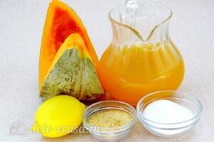 Тыквенно-апельсиновое желе: Ингредиенты