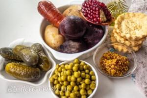 Винегрет в тарталетках: Ингредиенты