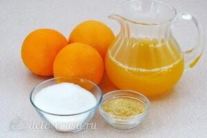 Желе в апельсинах: Ингредиенты