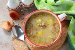 Грибной суп с перловкой: фото к шагу 9.