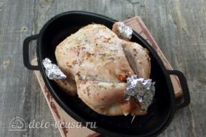 Курица, фаршированная рисом и овощами: фото к шагу 8.