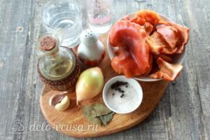 Быстрые маринованные лисички: Ингредиенты