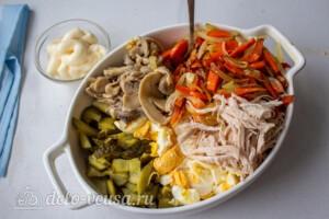 Машеровский салат: фото к шагу 7.