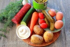 Новогодний венок из Оливье: Ингредиенты