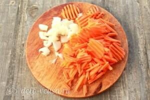 Овощное рагу с фасолью и мясом: фото к шагу 2.