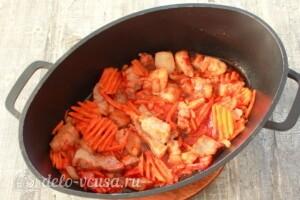 Овощное рагу с фасолью и мясом: фото к шагу 5.