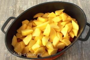Овощное рагу с фасолью и мясом: фото к шагу 6.