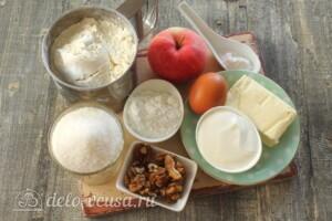 Песочные рулетики с яблоками: Ингредиенты