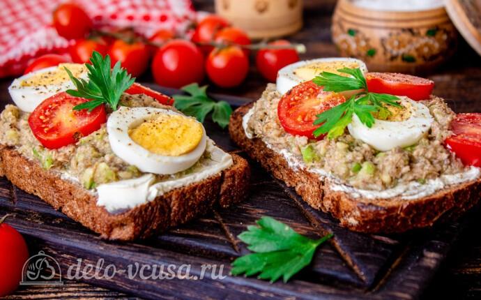 Тосты с авокадо и тунцом: фото блюда приготовленного по данному рецепту