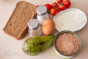 Тосты с авокадо и тунцом: Ингредиенты