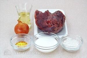 Бефстроганов из говяжьего сердца: Ингредиенты
