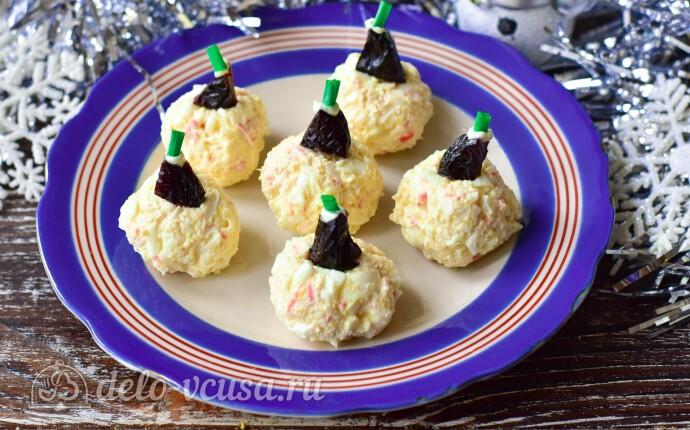 Салат-закуска «Елочные шары»