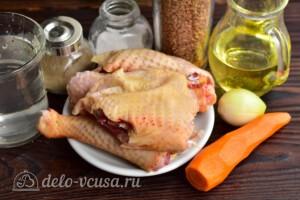 Гречка с курицей на сковороде: Ингредиенты