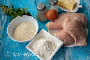 Котлеты де-воляй (Cotelettes de volaille): Ингредиенты
