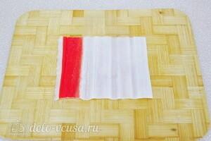 Фаршированные крабовые палочки с консервами и рисом: фото к шагу 7.