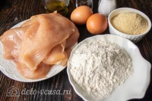 Куриные отбивные в панировочных сухарях: Ингредиенты