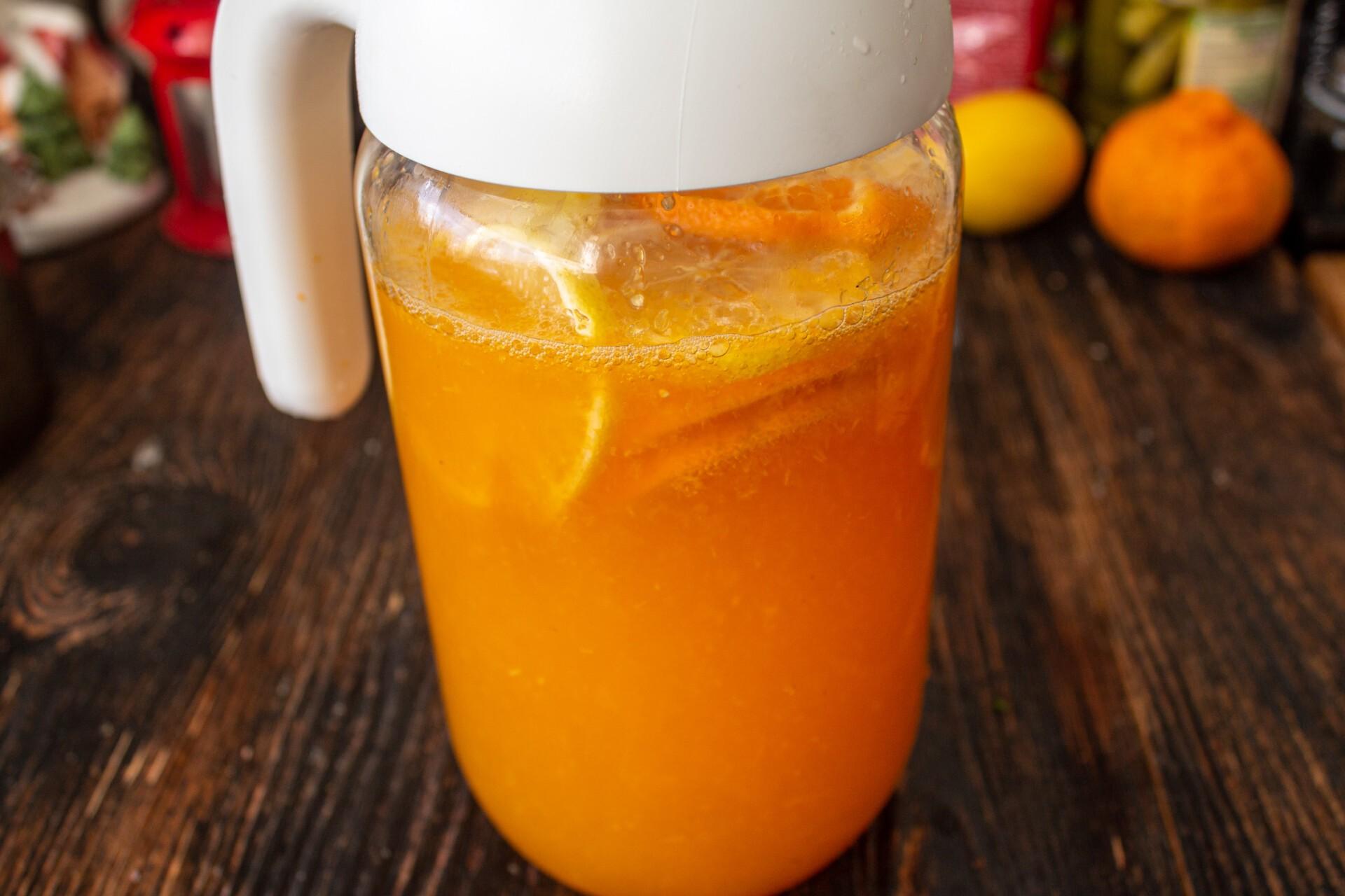 Мандариновый лимонад: фото к шагу 9.