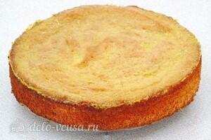 Манный бисквит с фруктовым соком: фото к шагу 12.
