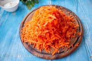Морковный рулет со сливочным сыром: фото к шагу 1.