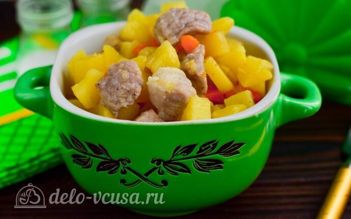 Рецепт мясное рагу с капустой за 20 минут