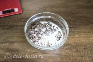 Шоколадный торт с орехами и маршмеллоу: фото к шагу 3.