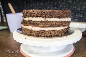 Шоколадный торт с орехами и маршмеллоу: фото к шагу 7.