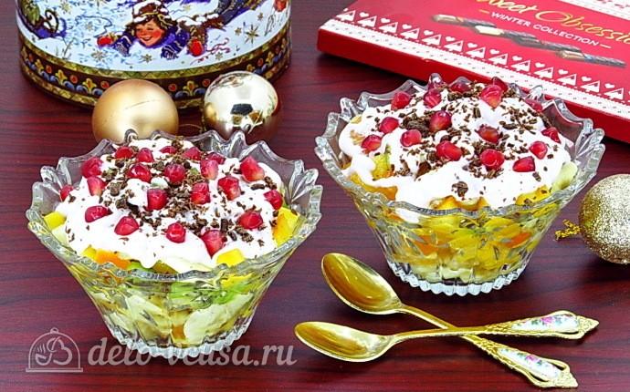 """Рецепт фруктовый салат-коктейль """"зимний"""""""