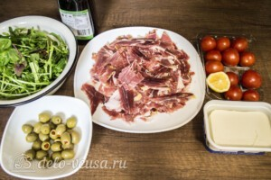 Салат с хамоном и сыром Фета: Ингредиенты