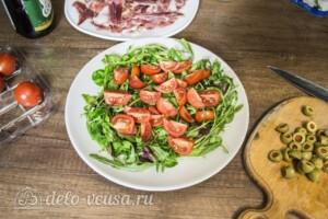 Салат с хамоном и сыром Фета: фото к шагу 2.