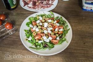 Салат с хамоном и сыром Фета: фото к шагу 4.