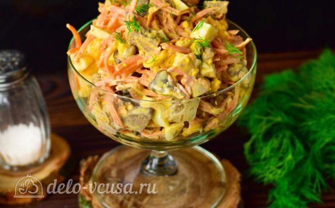 Салат с печенью и морковью по-корейски