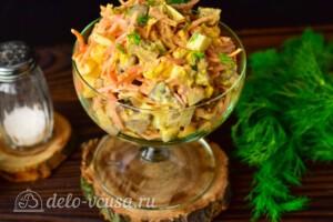 Салат с печенью и морковью по-корейски: фото к шагу 6.