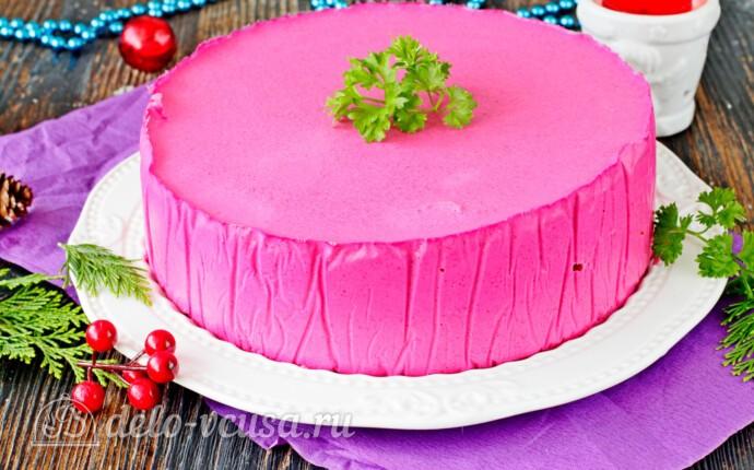 Торт-салат «Сельдь под шубой» в муссе