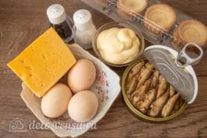 Тарталетки со шпротами и сыром: Ингредиенты