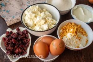 Творожно-кокосовая запеканка с клюквой: Ингредиенты