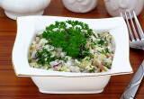 Салат «Зимний» с печенью трески