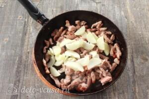 Картофельная бабка с мясом и грибами: фото к шагу 2.
