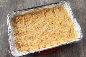 Картофельная бабка с мясом и грибами: фото к шагу 7.