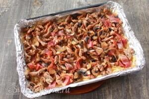Картофельная бабка с мясом и грибами: фото к шагу 8.