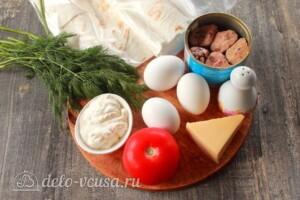 Конвертики из лаваша с тунцом: Ингредиенты