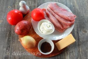 Мясо по-царски с помидорами: Ингредиенты