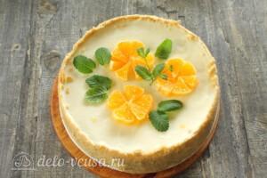 Творожный торт без выпечки: фото к шагу 14.