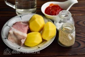 Азу из свинины с картошкой в мультиварке: Ингредиенты