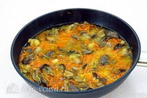 Булгур с овощами и вешенками: фото к шагу 9.